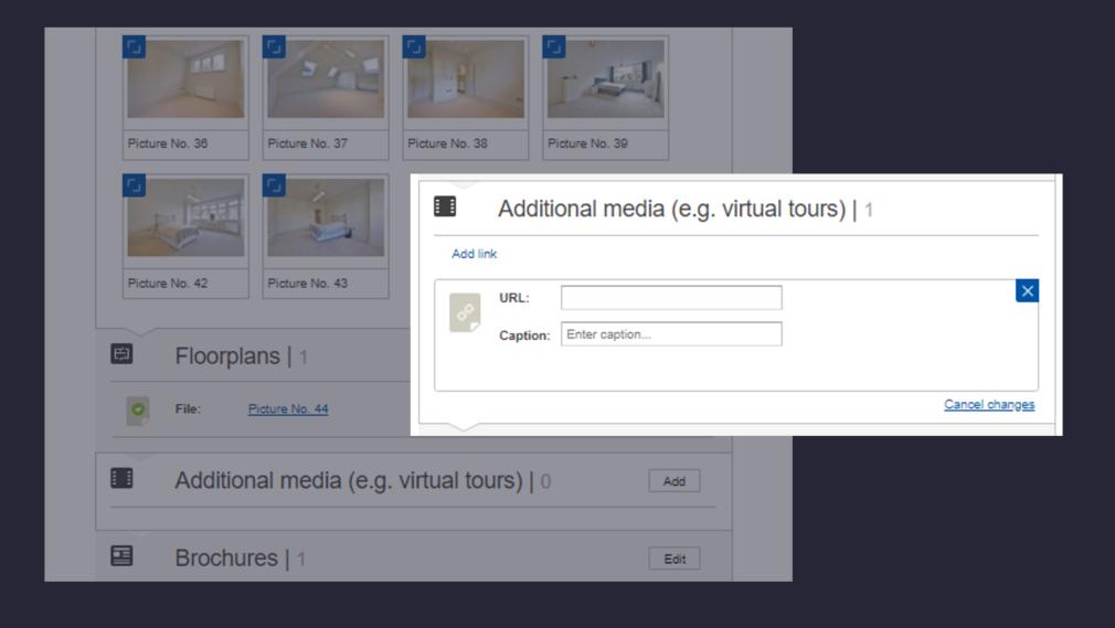 add a virtual tour to Rightmove